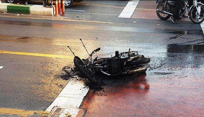 جزییات پرونده مردی که موتورش را در خیابان آتش زد