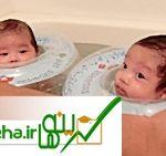 آموزش حمام کودک به روش باورنکردنی !شناگران دوقلو